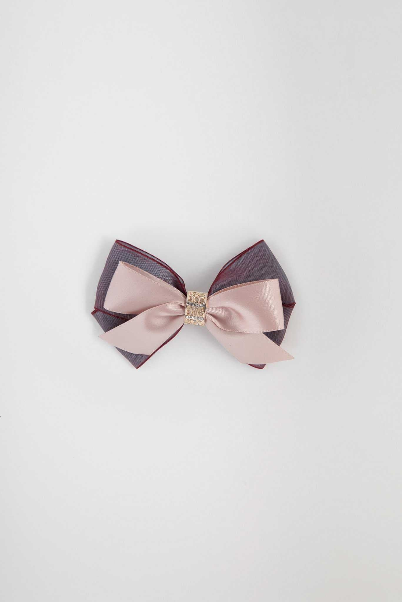 Hair Clip - Pink Bow | Raw Orange