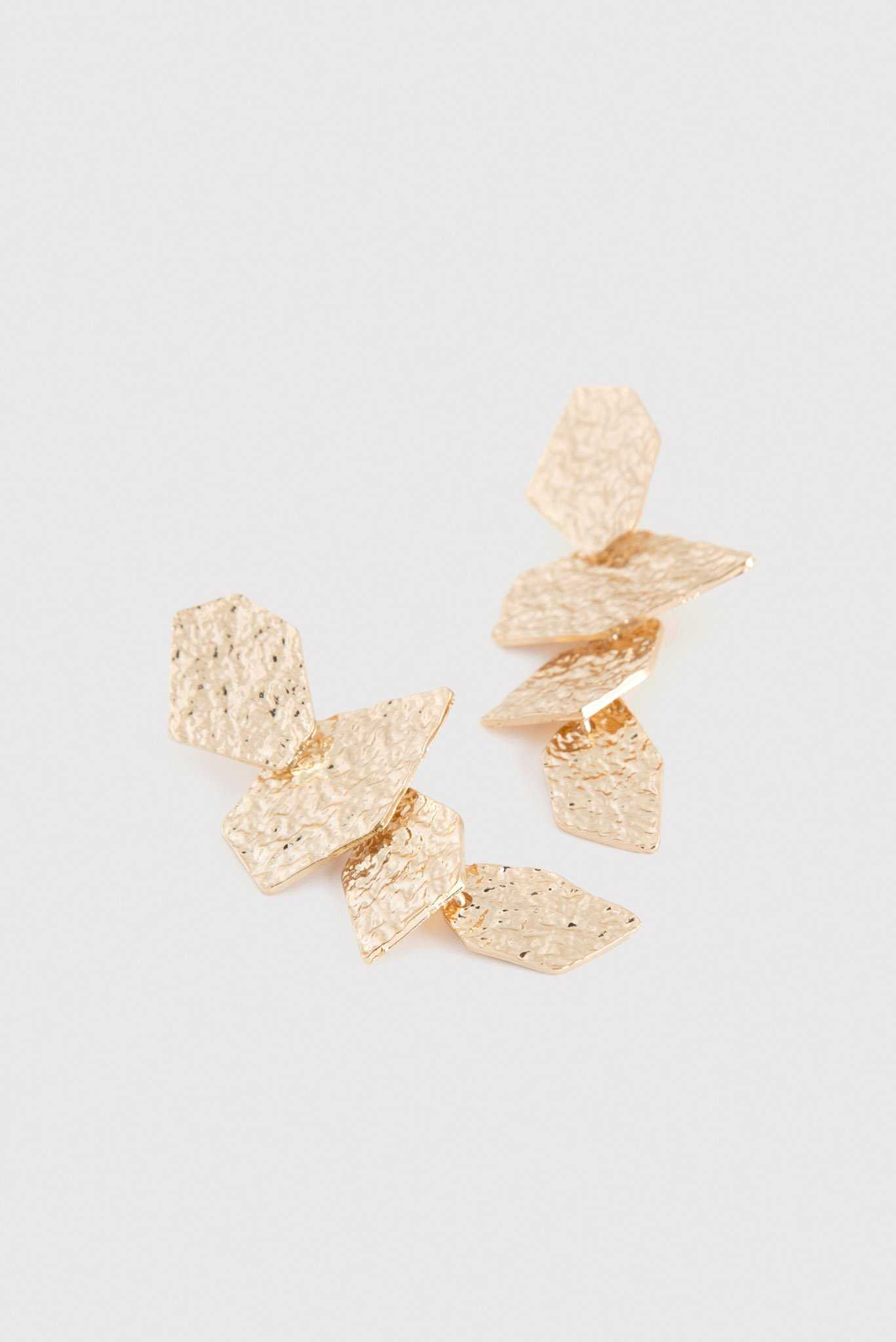 Abstract Drop Earrings | Raw Orange