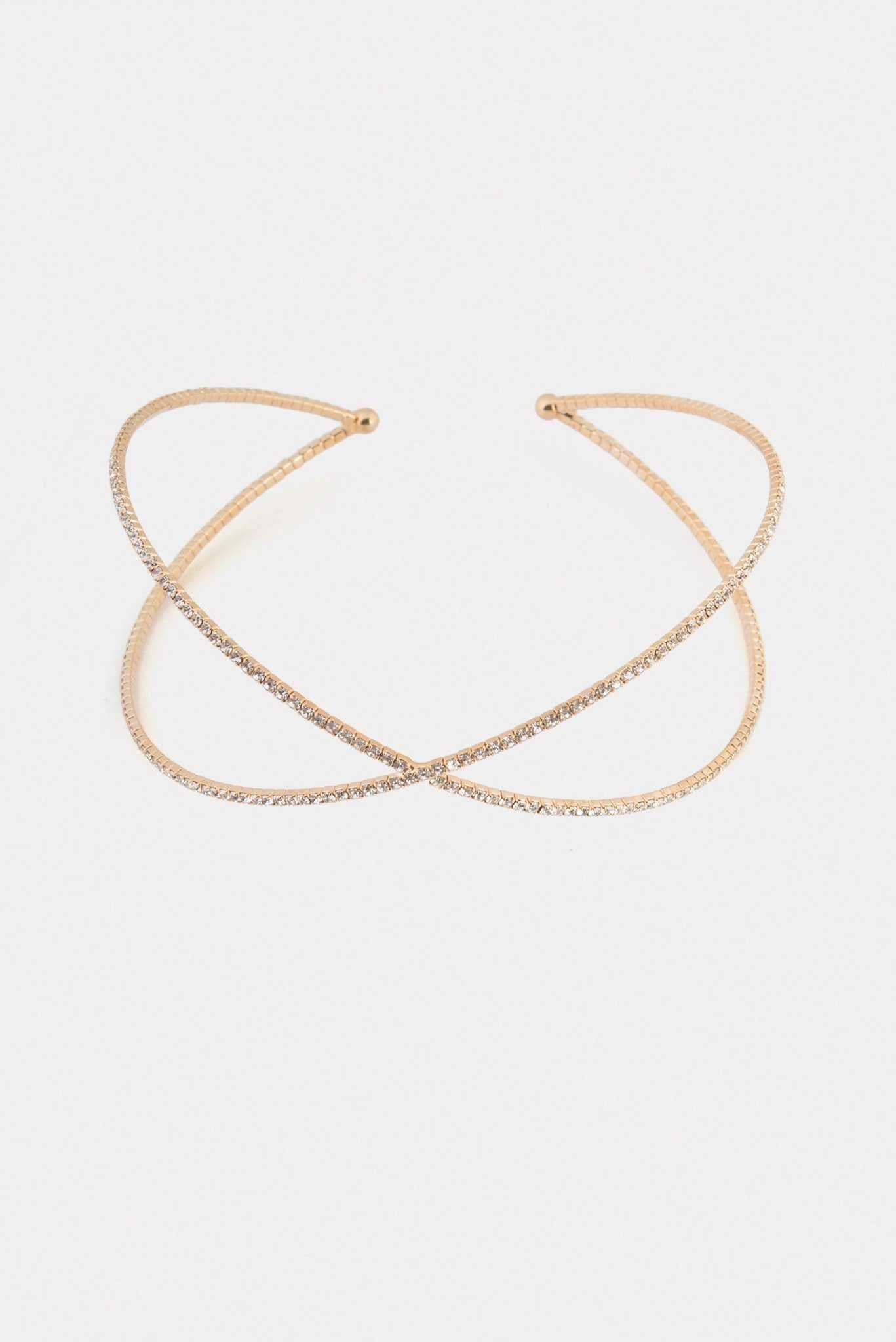 Cross Choker | Raw Orange