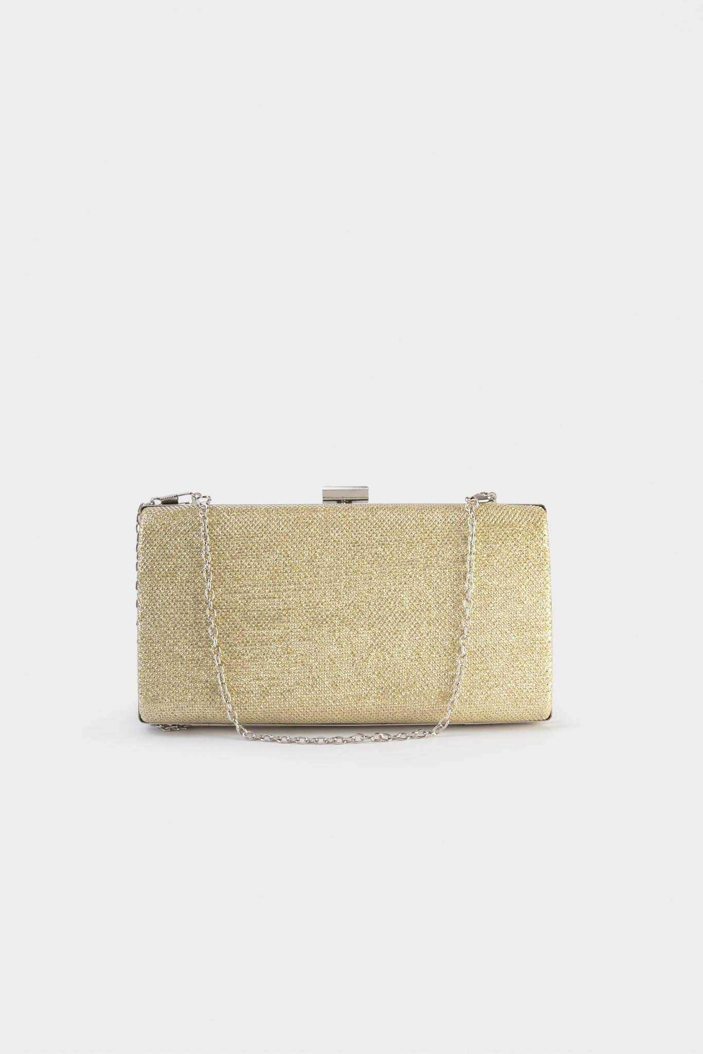 Life of Party Clutch - Gold | Raw Orange