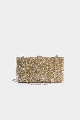 Glamorous Clutch - Gold | Raw Orange