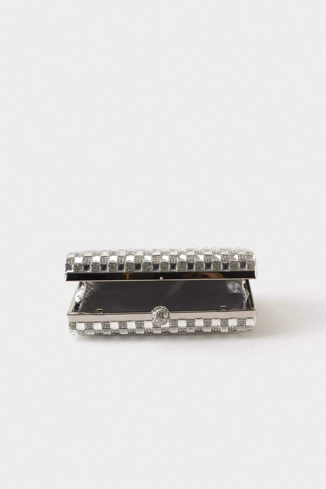 Embellished Clutch - Silver | Raw Orange