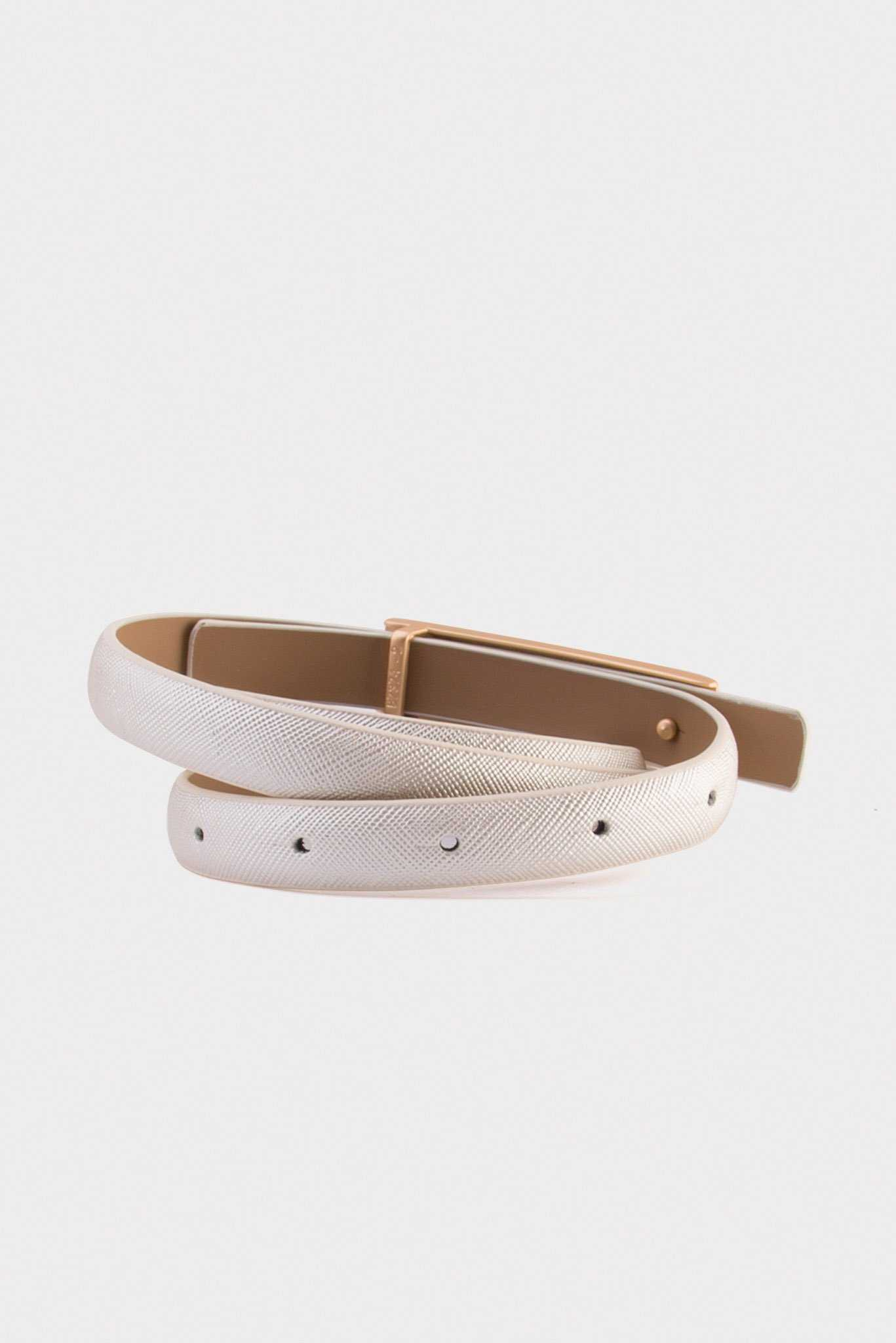 Narrow Belt - White | Raw Orange
