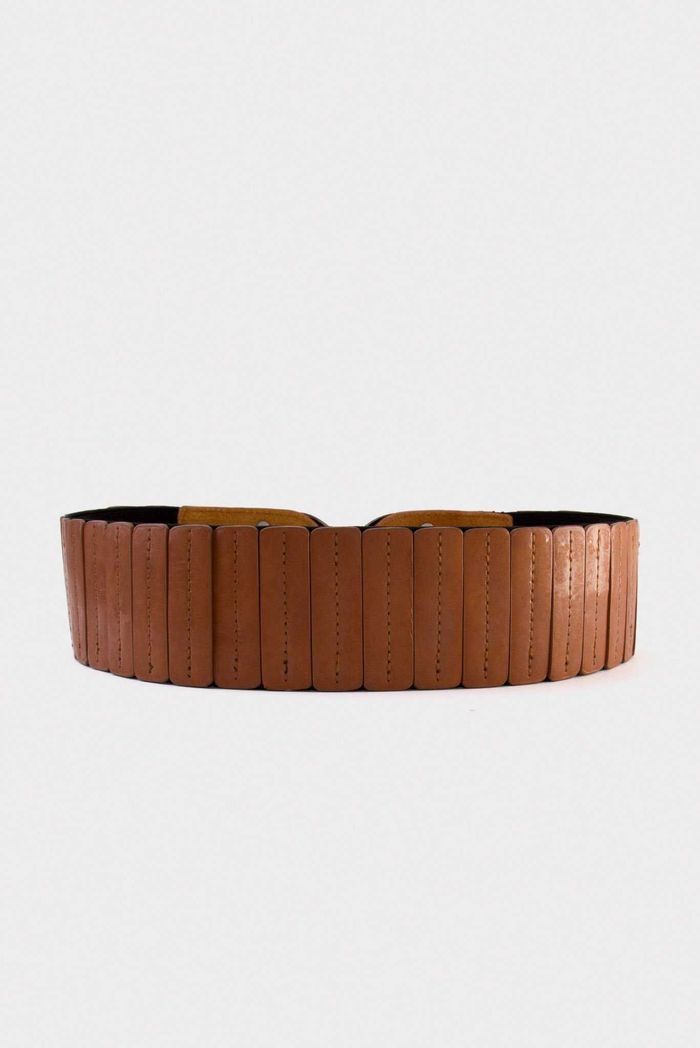 Chunky Stud Belt | Raw Orange
