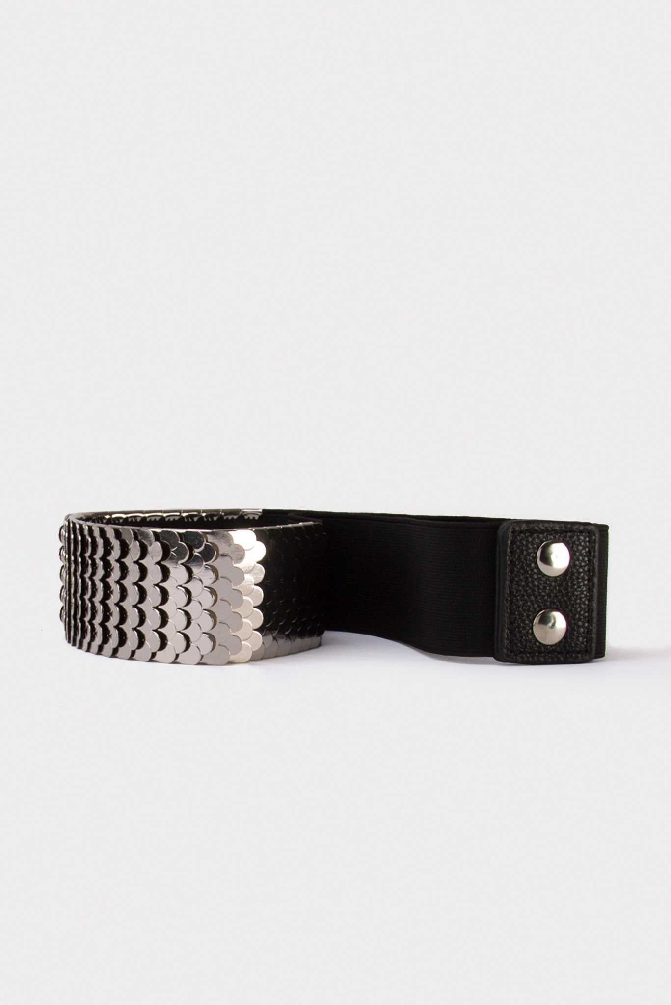 Metal Waist Belt Silver | Raw Orange