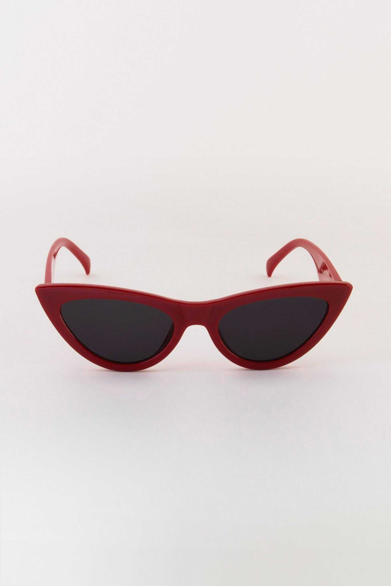 Maroon Cateyes Sunglasses | Raw Orange