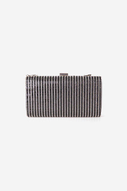 Rhinestone Clutch - Black