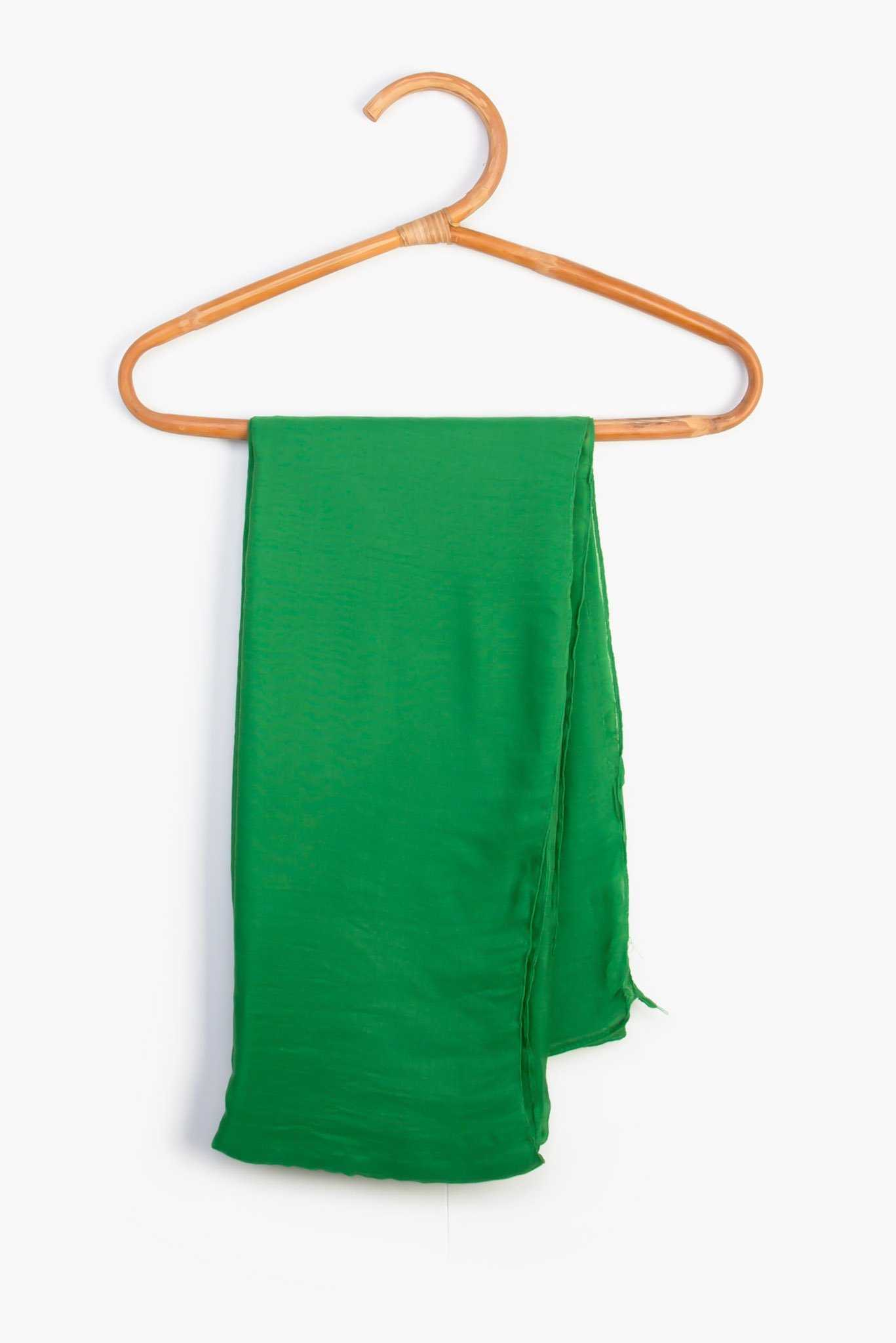 Scarf - Dark Green | Raw Orange