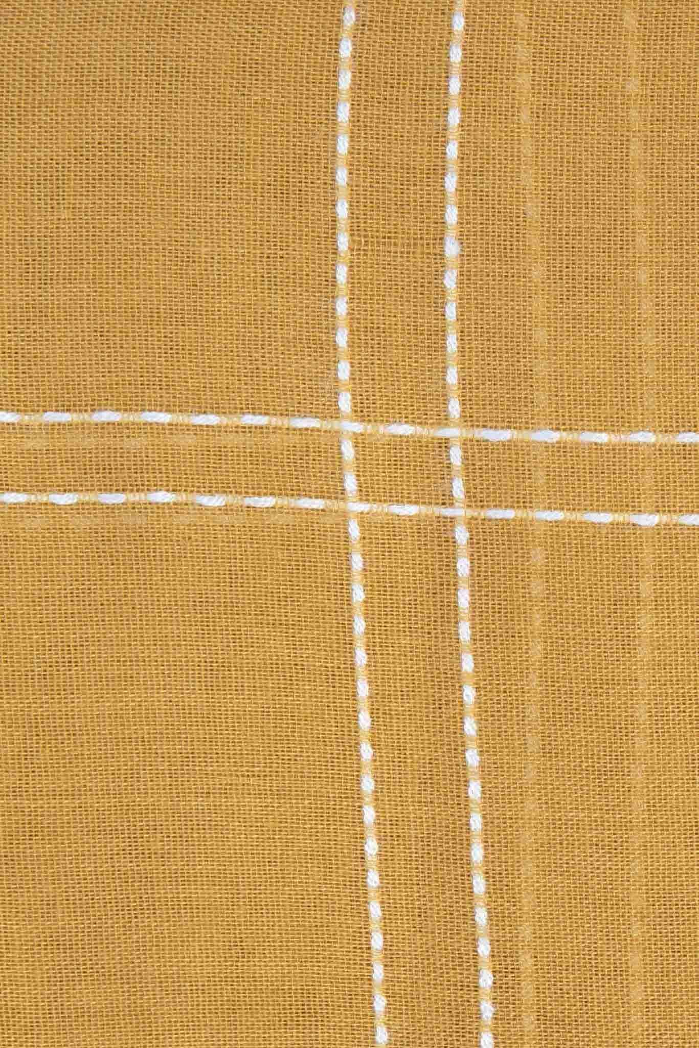 Striped Scarf - Mustard | Raw Orange