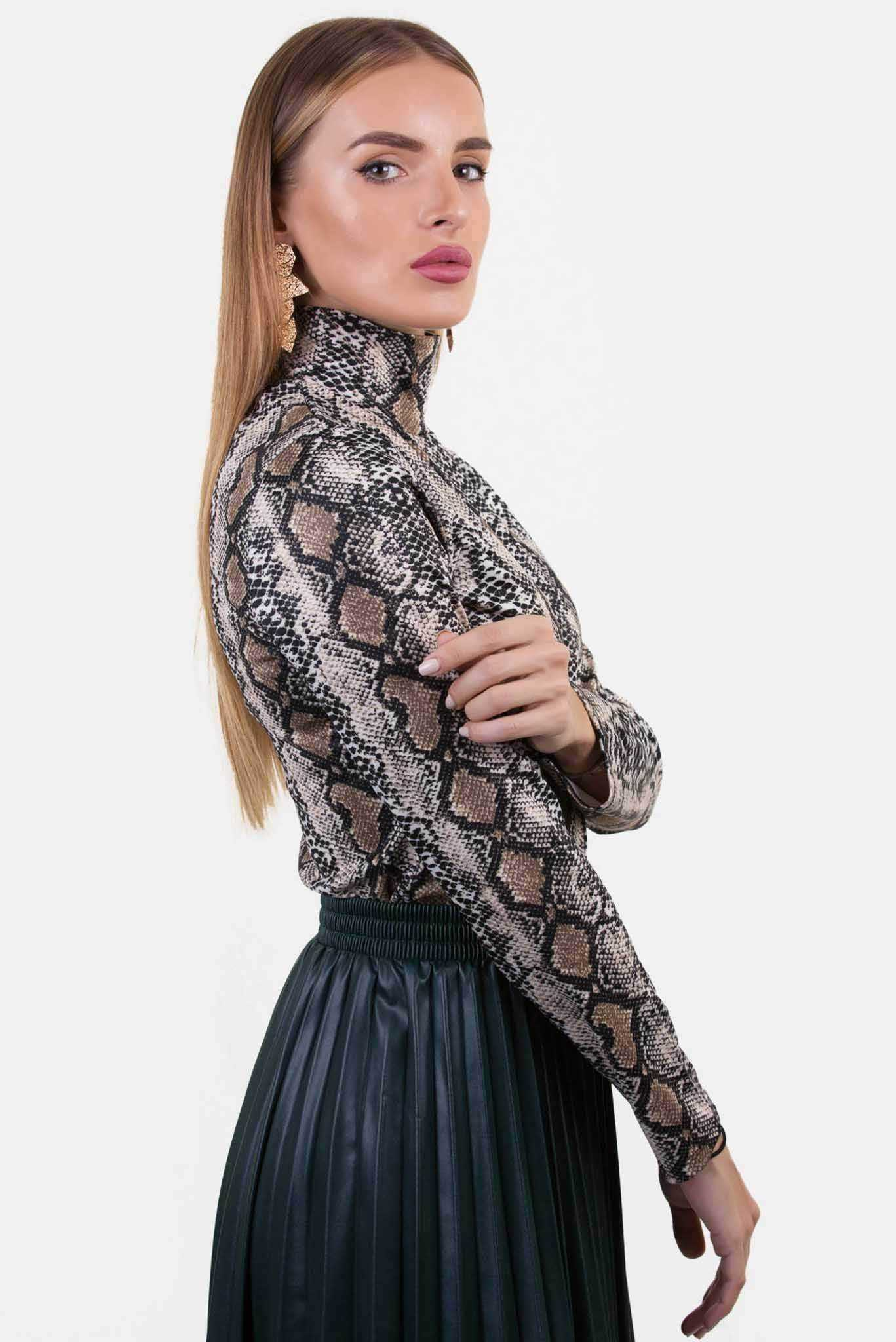 Bodysuit - Snake Print | Raw Orange