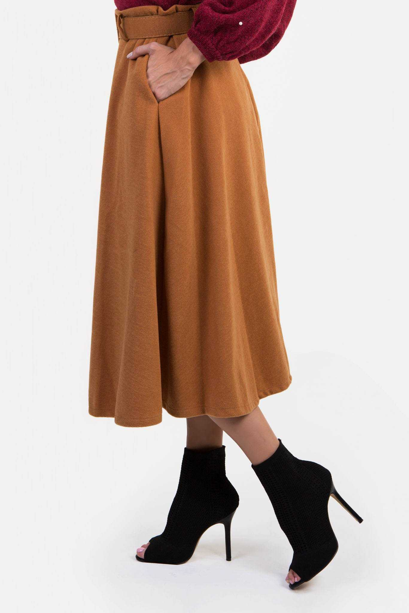Winter Skirt - Brown | Raw Orange