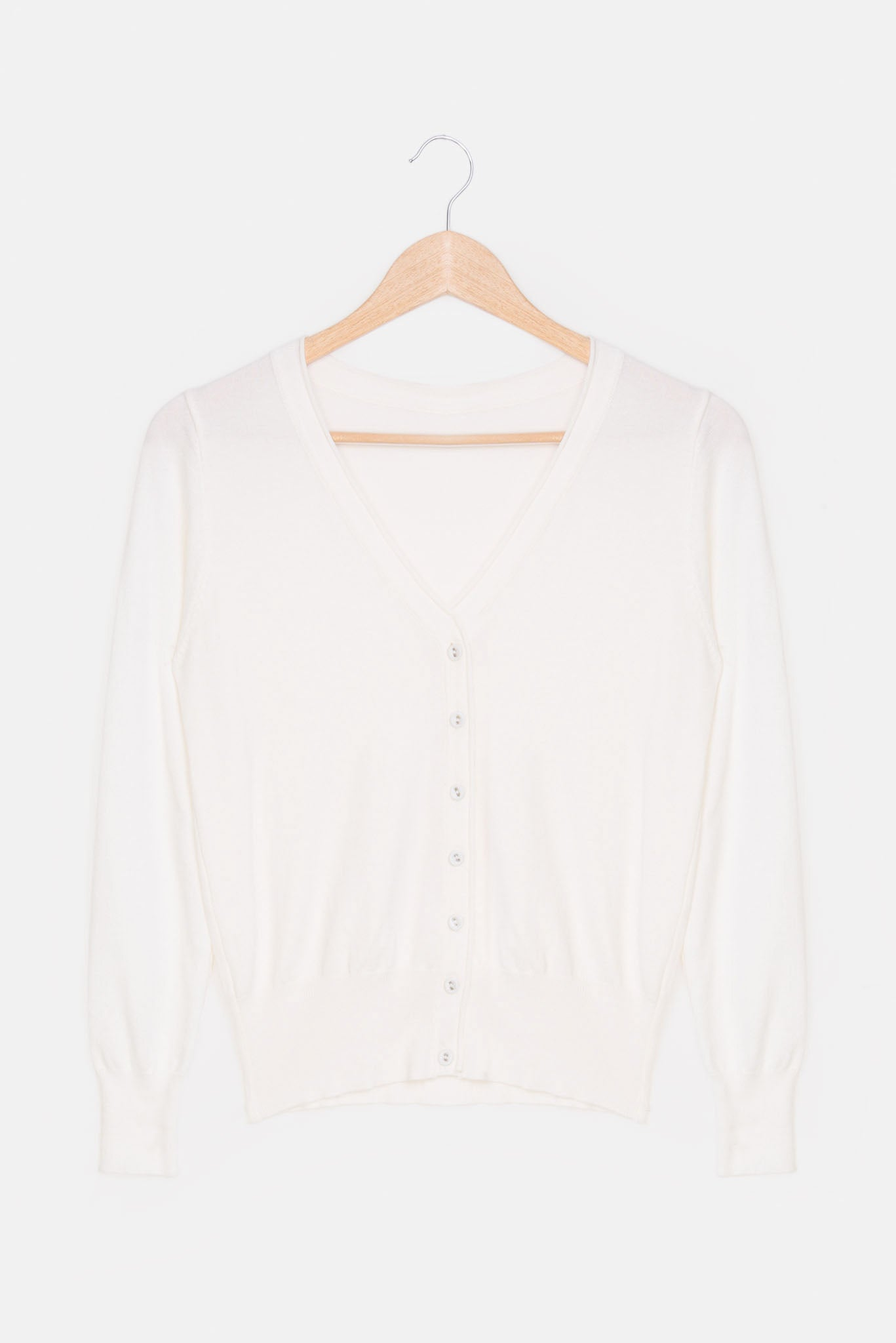 Short  Cardigan - White | Raw Orange