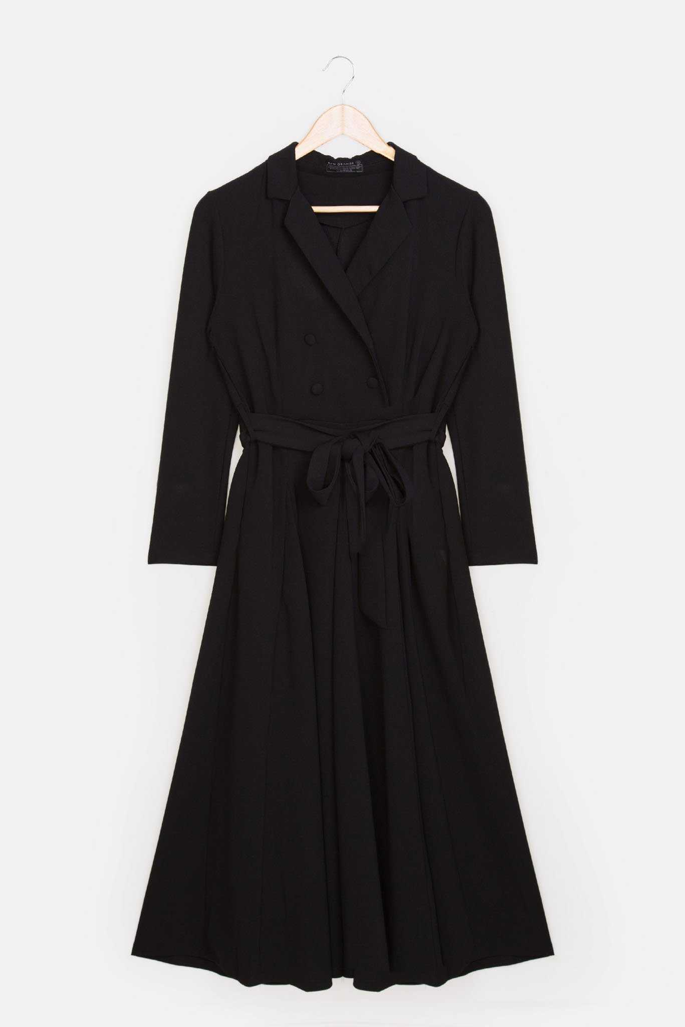 Trench Dress - Black | Raw Orange