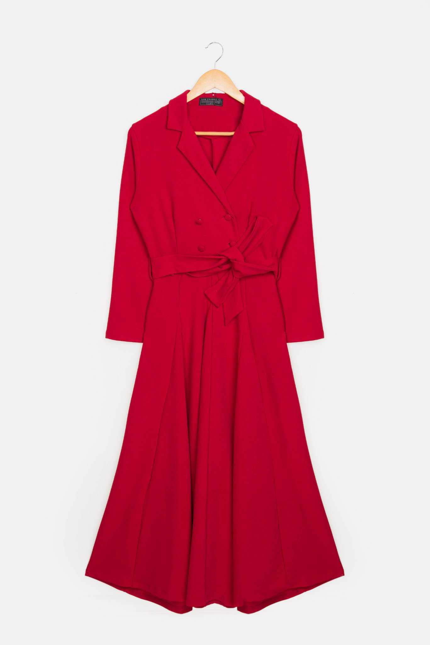Trench Dress - Red | Raw Orange