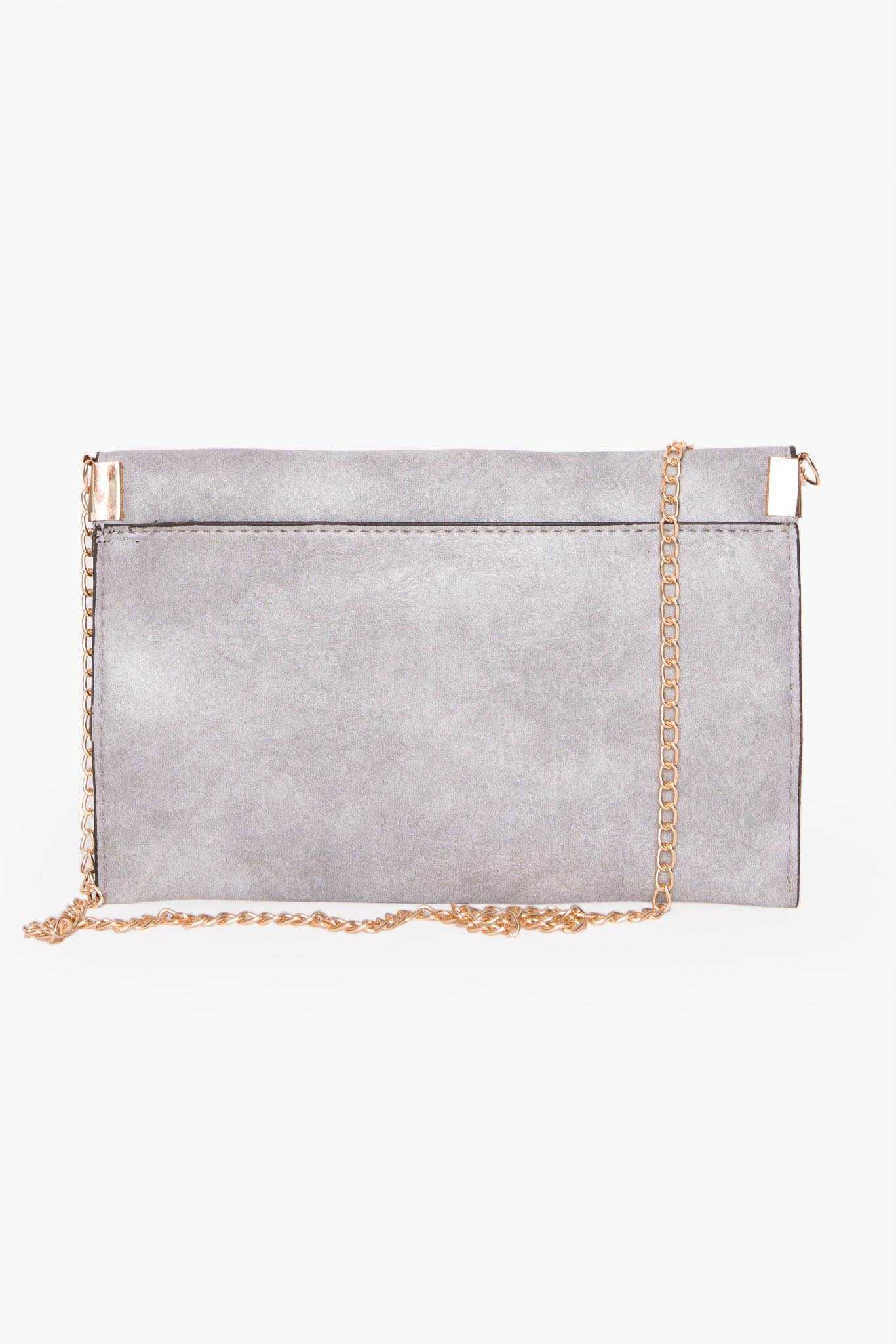 Washed Handbag - Grey | Raw Orange