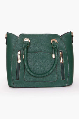 Handbag - Green | Raw Orange