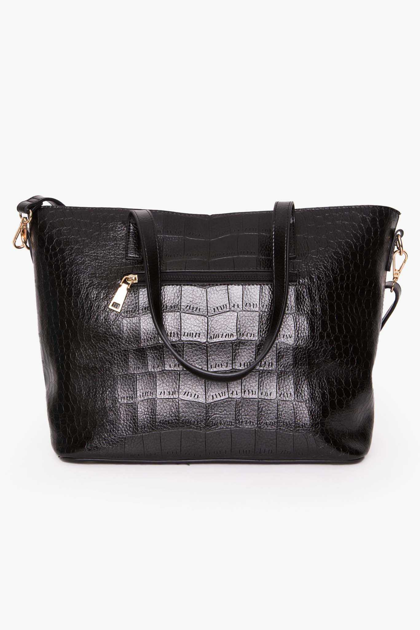 Handbag - Black | Raw Orange