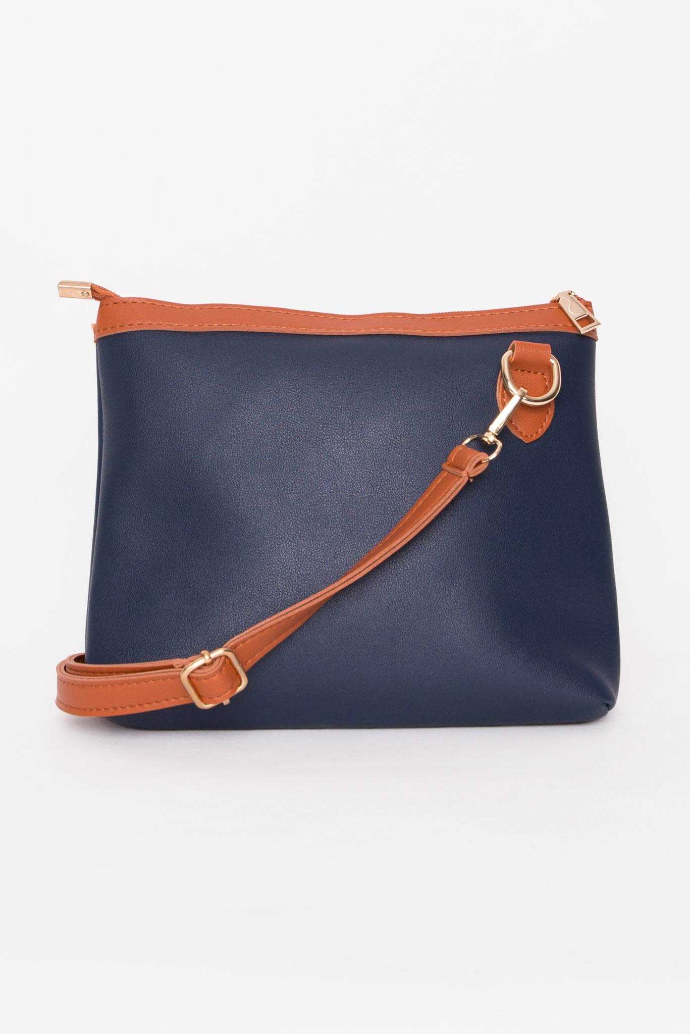 Handbag - Blue | Raw Orange