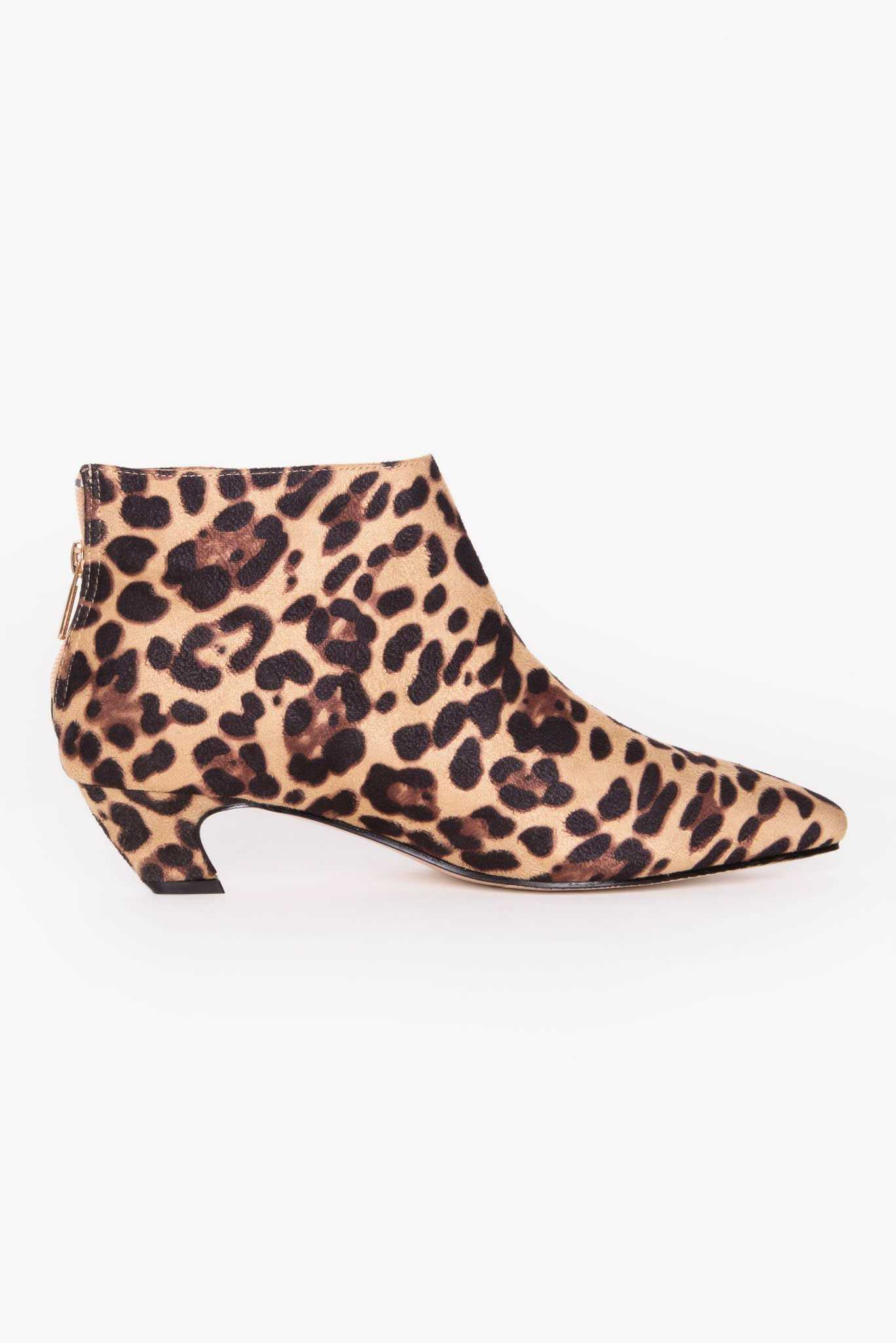 Leopard Print Boots | Raw Orange