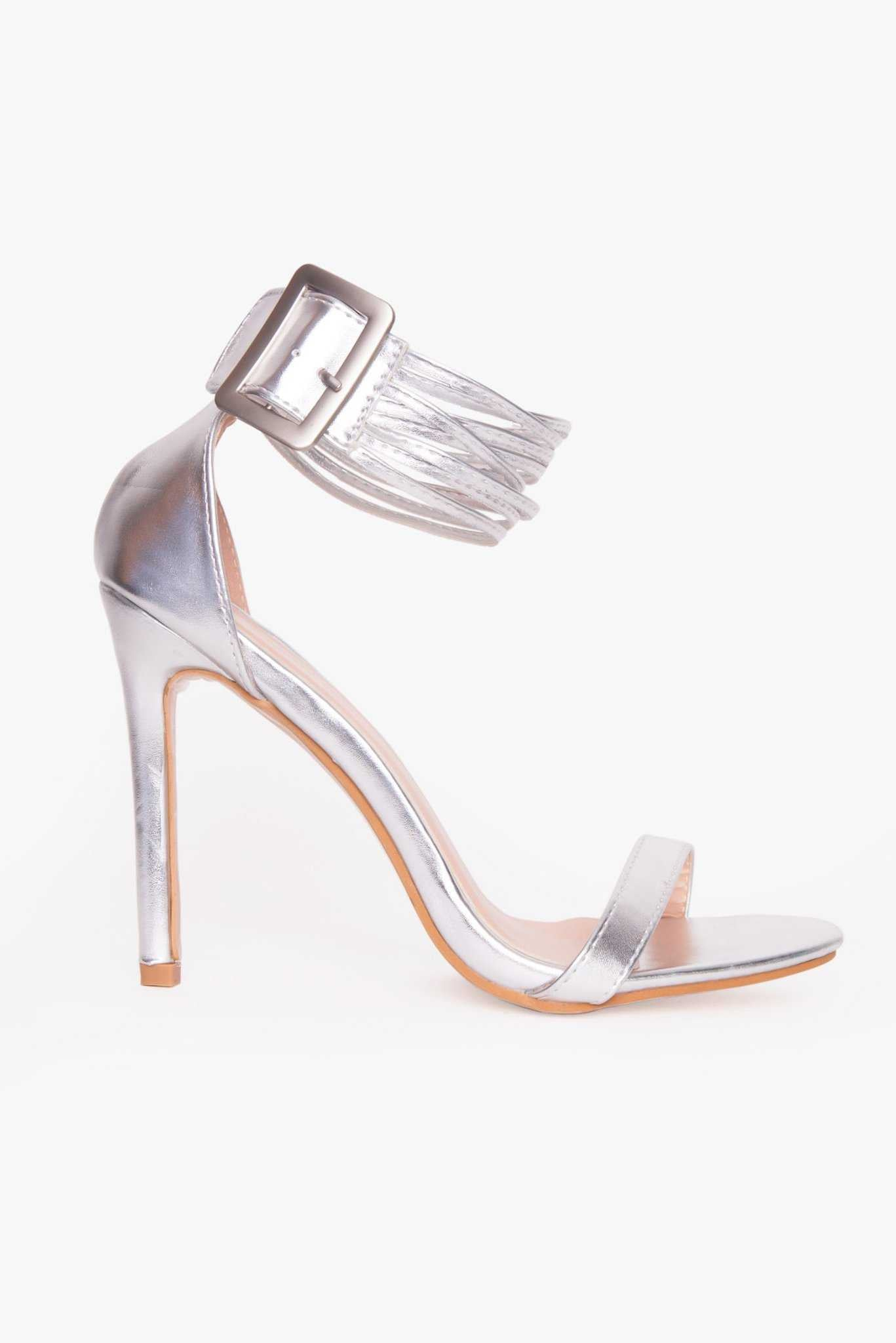 Stilettos - Silver | Raw Orange