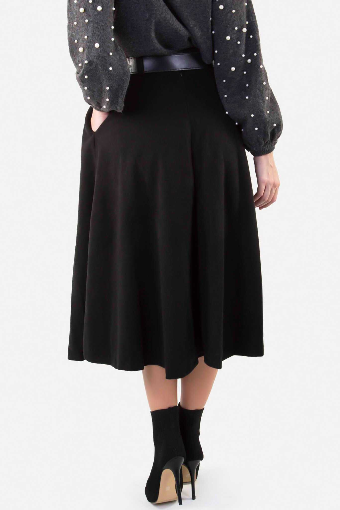 Winter Skirt - Black | Raw Orange