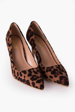Leopard Print Pumps | Raw Orange