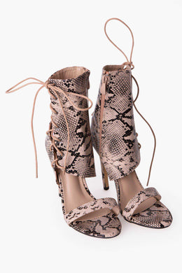 Snake Party Stilettos | Raw Orange