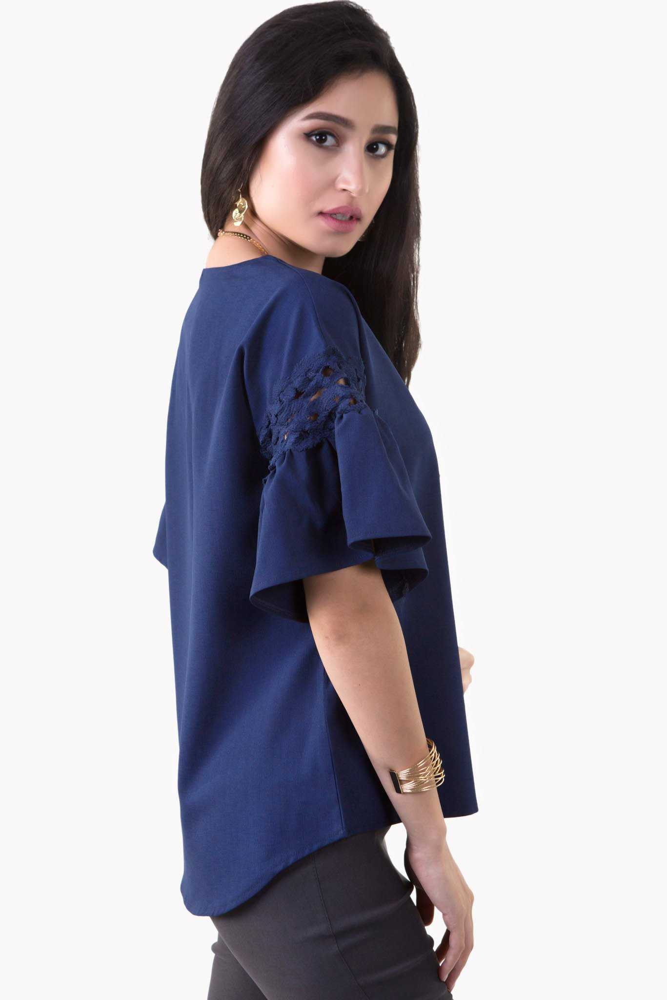 Marissa Top - Blue | Raw Orange