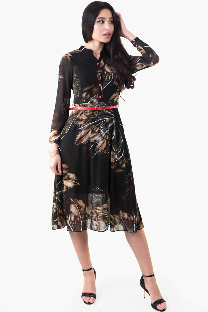 Blossom Floral Dress - Black