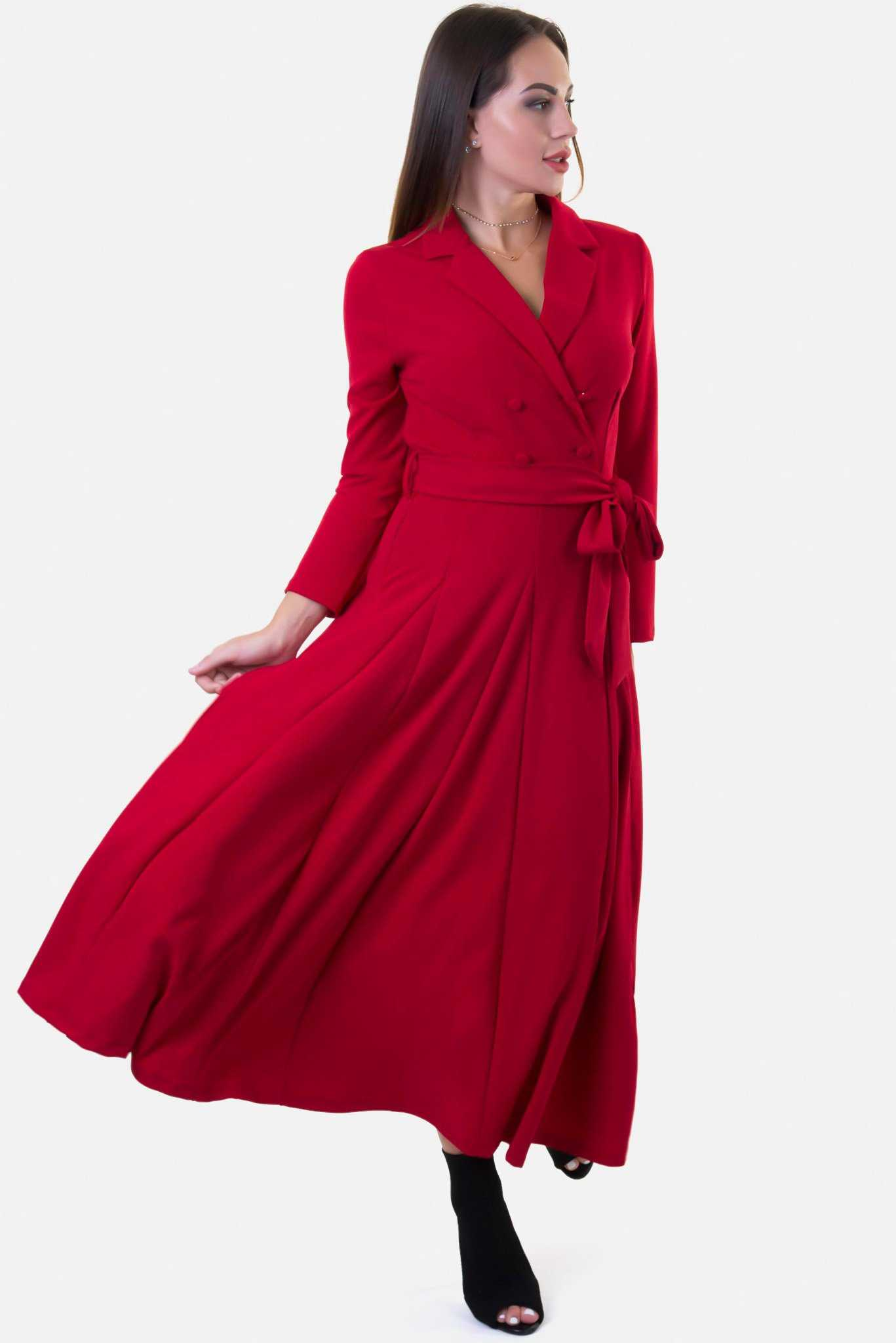 Trench Dress - Red