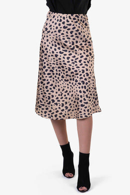 Formal Skirt - Animal Print | Raw Orange