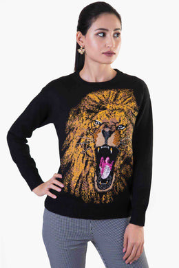 Lion Sweater | Raw Orange
