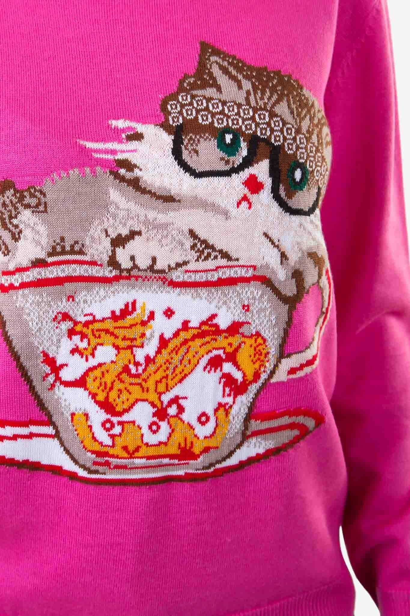 Kitty Love Sweater | Raw Orange