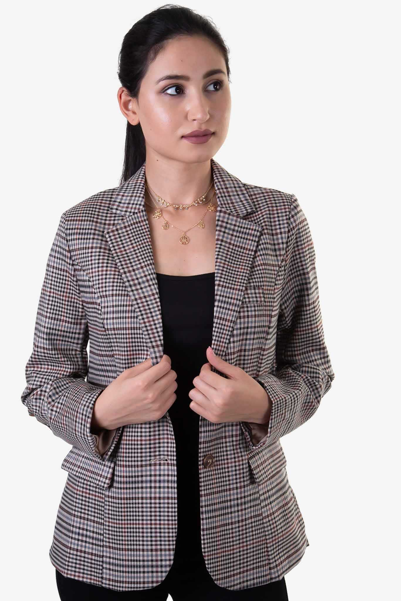 Formal Blazer - Checks | Raw Orange