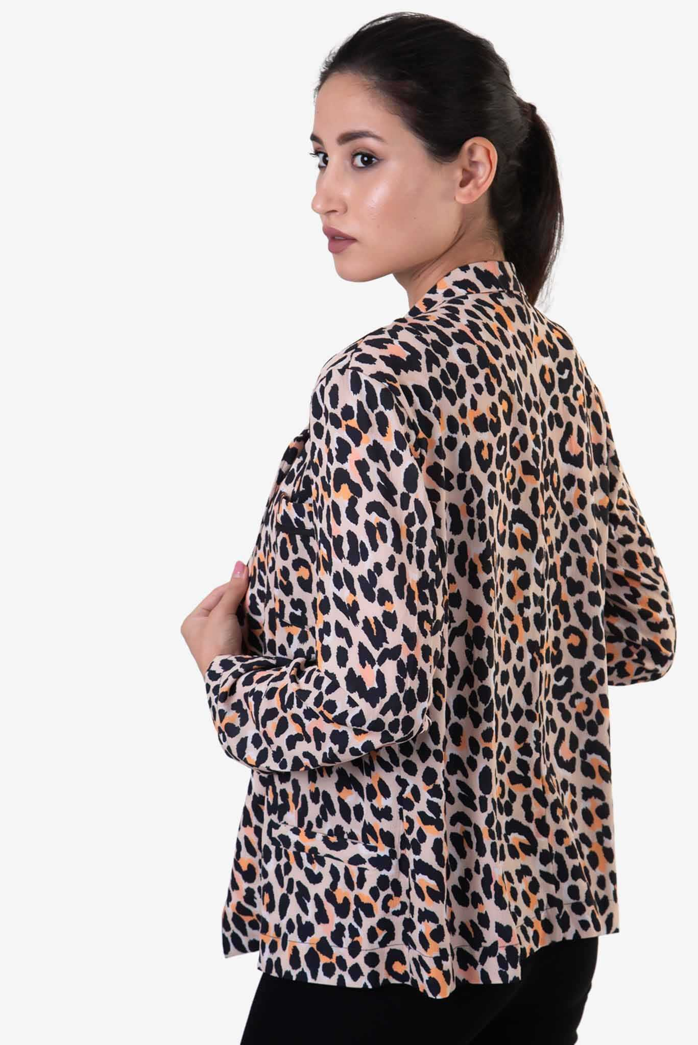 Blazer - Cheetah Print | Raw Orange