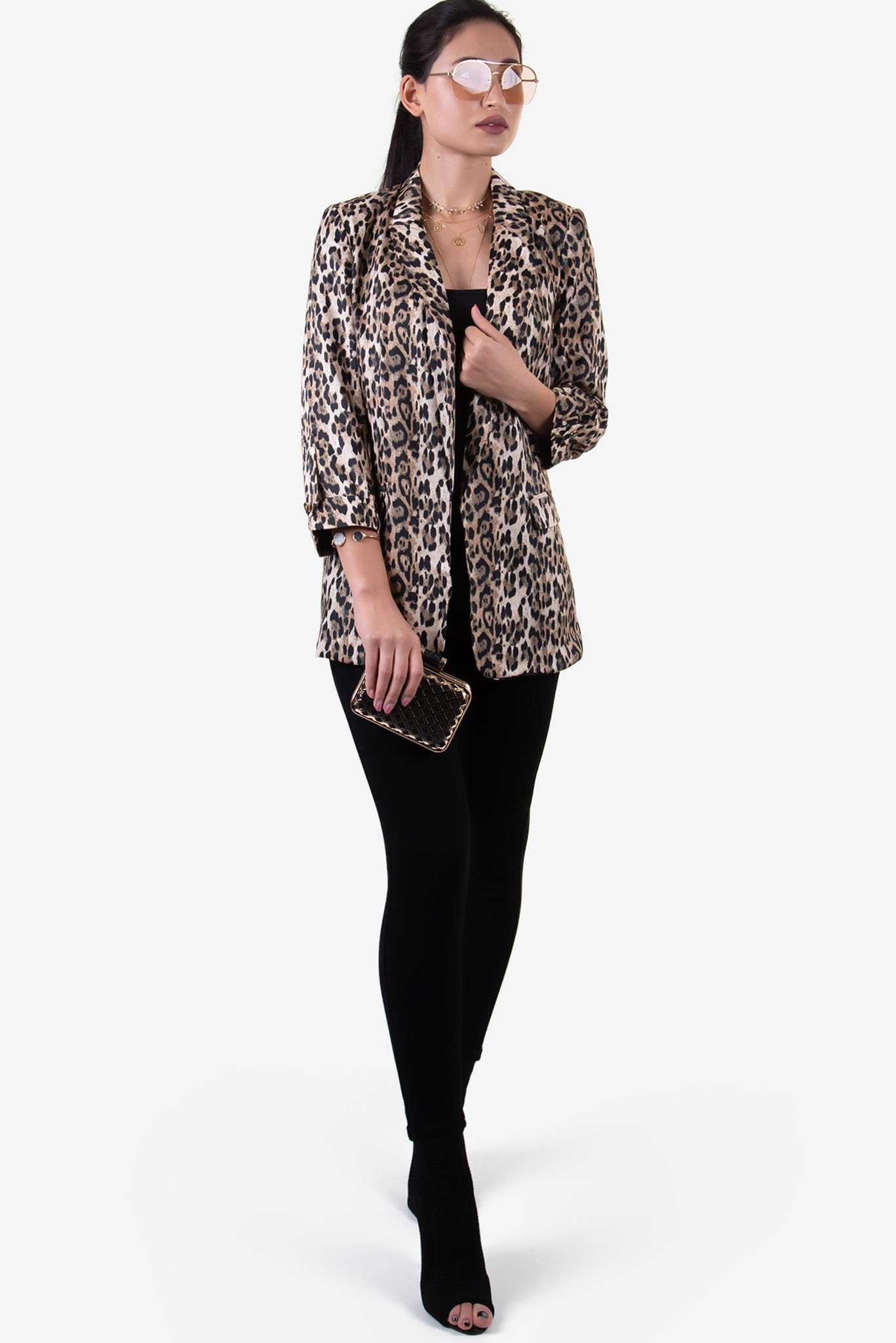 Blazer - Leopard Print | Raw Orange
