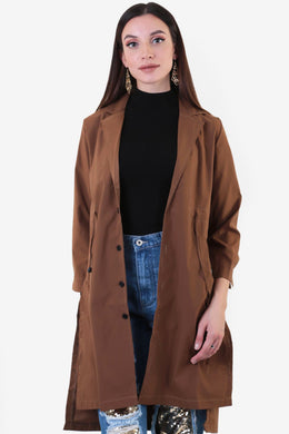 Drawstring Trench Coat