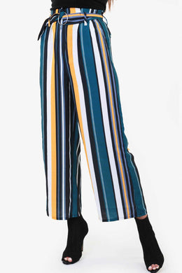Stripped Culottes | Raw Orange