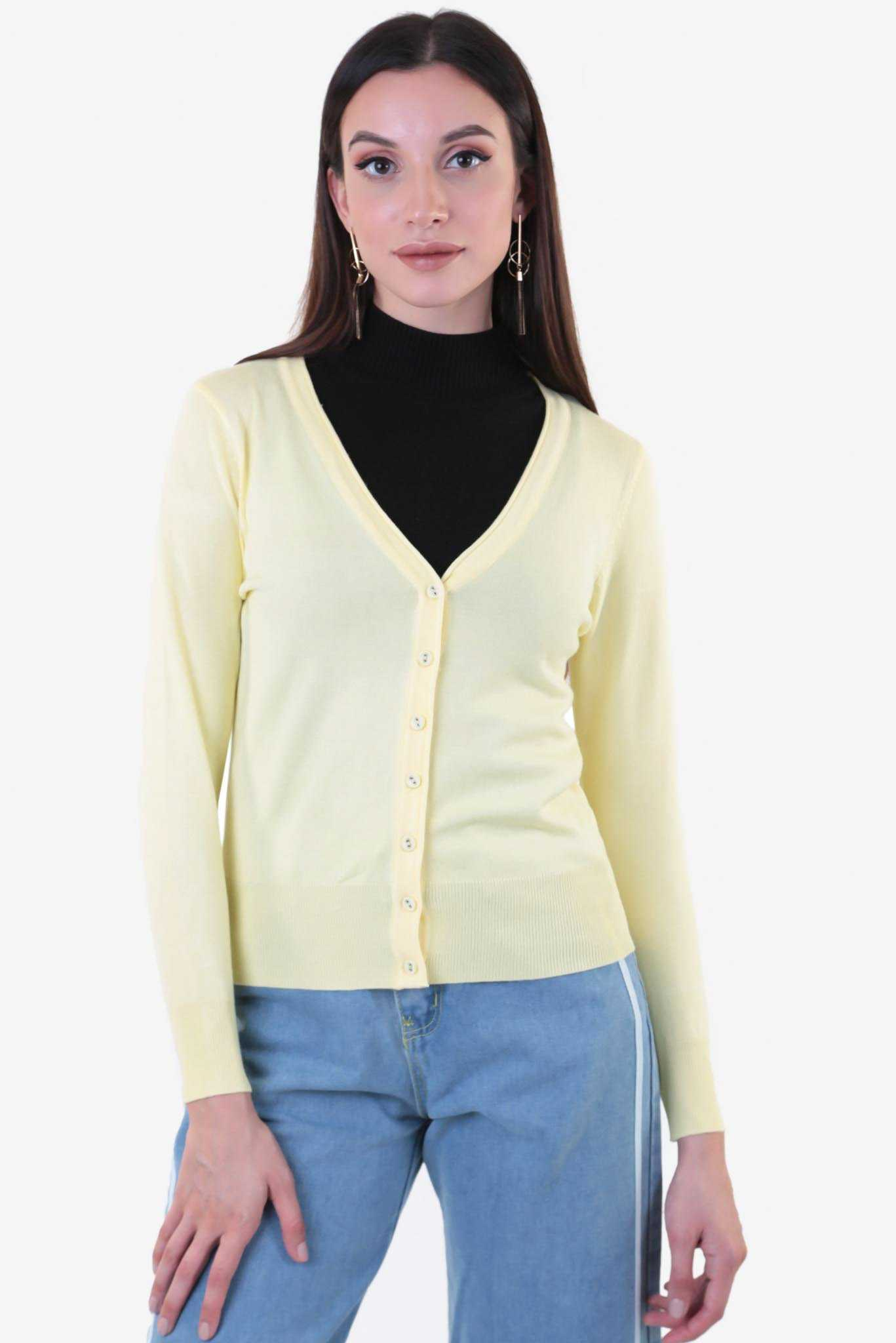 Short Cardigan - Yellow | Raw Orange