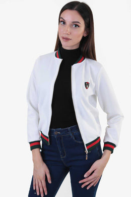 Scuba Bomber Jacket - White