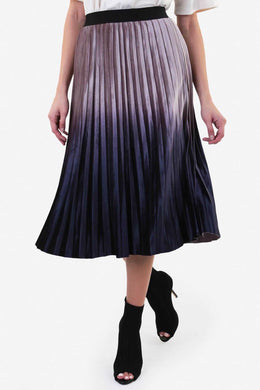 Ombré Velvet Skirt - Grey
