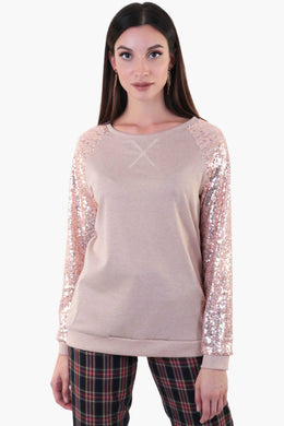 Sequin Sweater | Raw Orange
