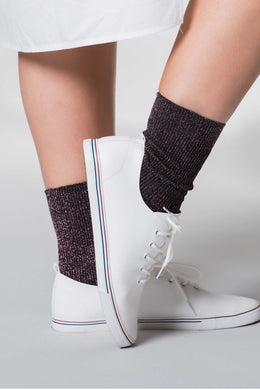 Socks Glitter Purple