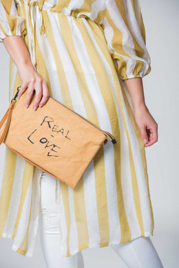 Love Clutch Brown | Raw Orange