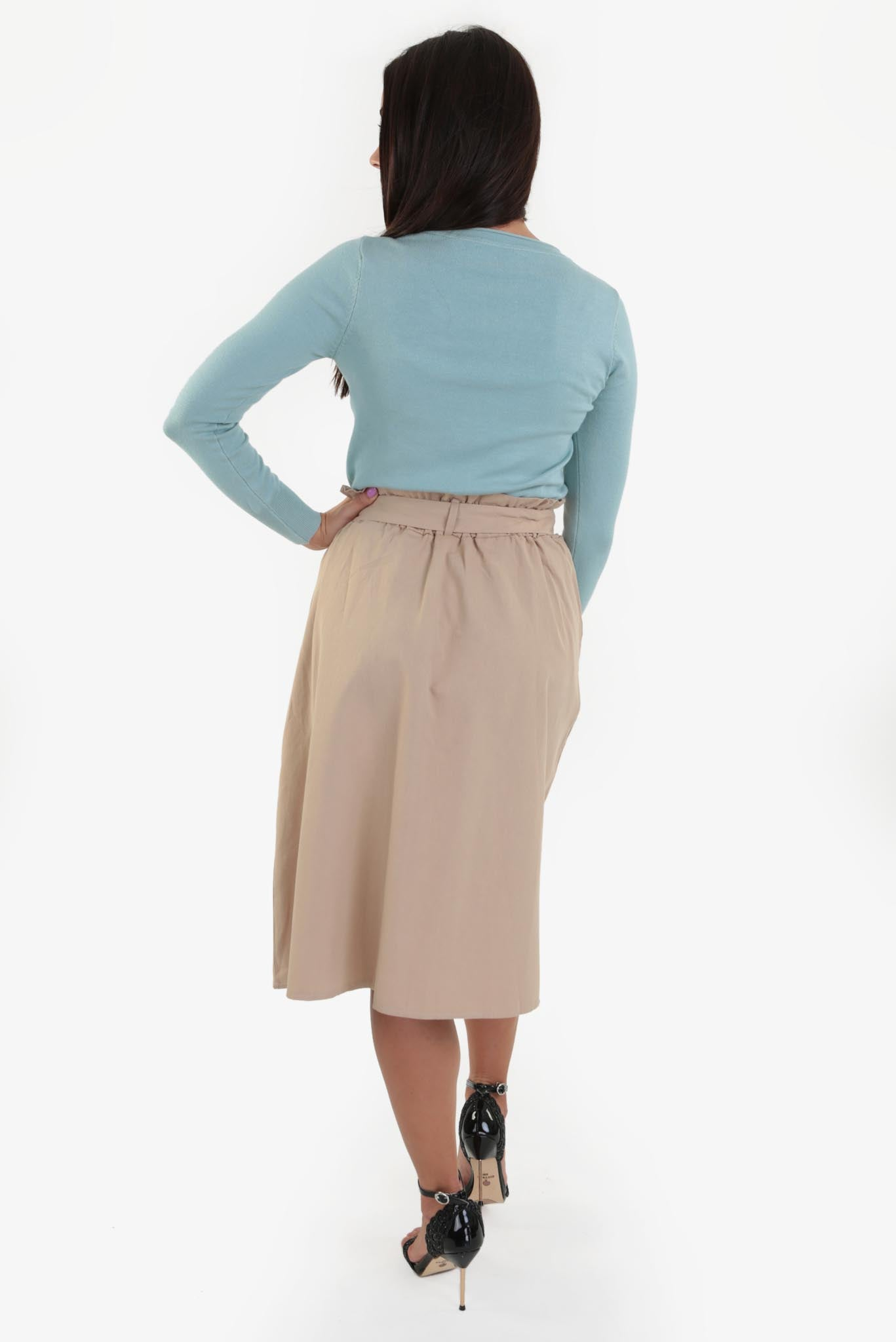 Midi Skirt - Beige | Raw Orange