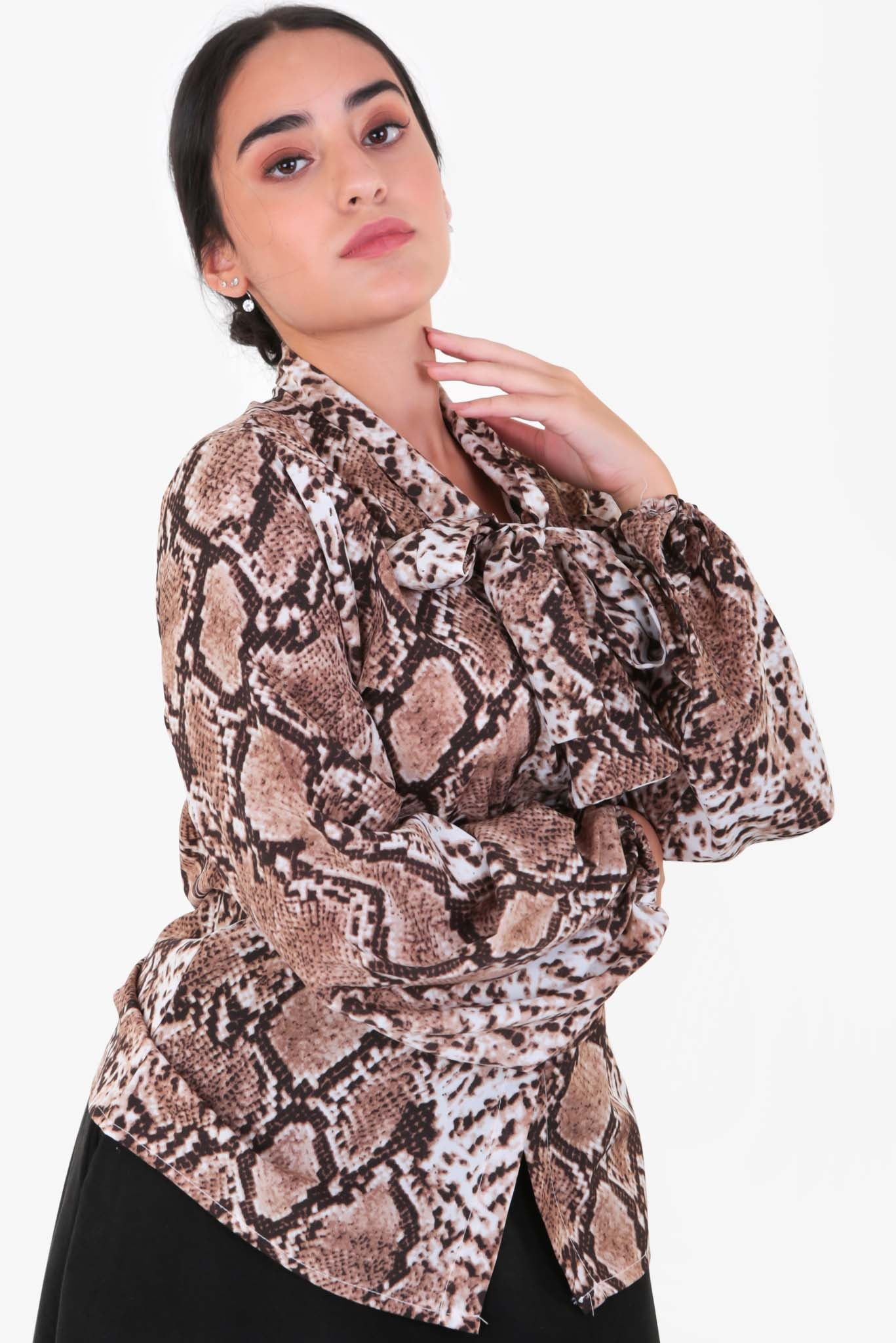 Snake Print - Blouse | Raw Orange