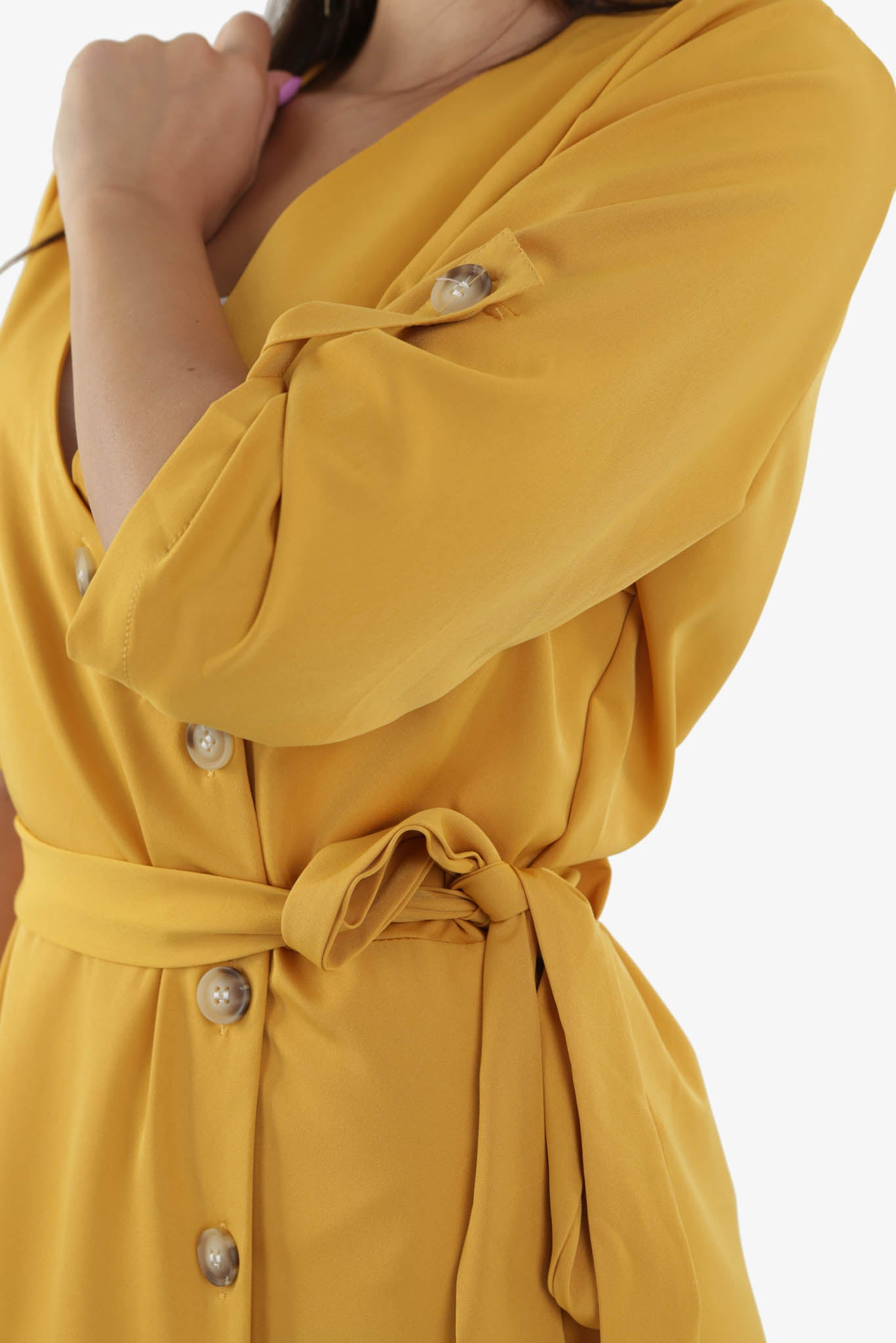Mustard dress | Raw Orange
