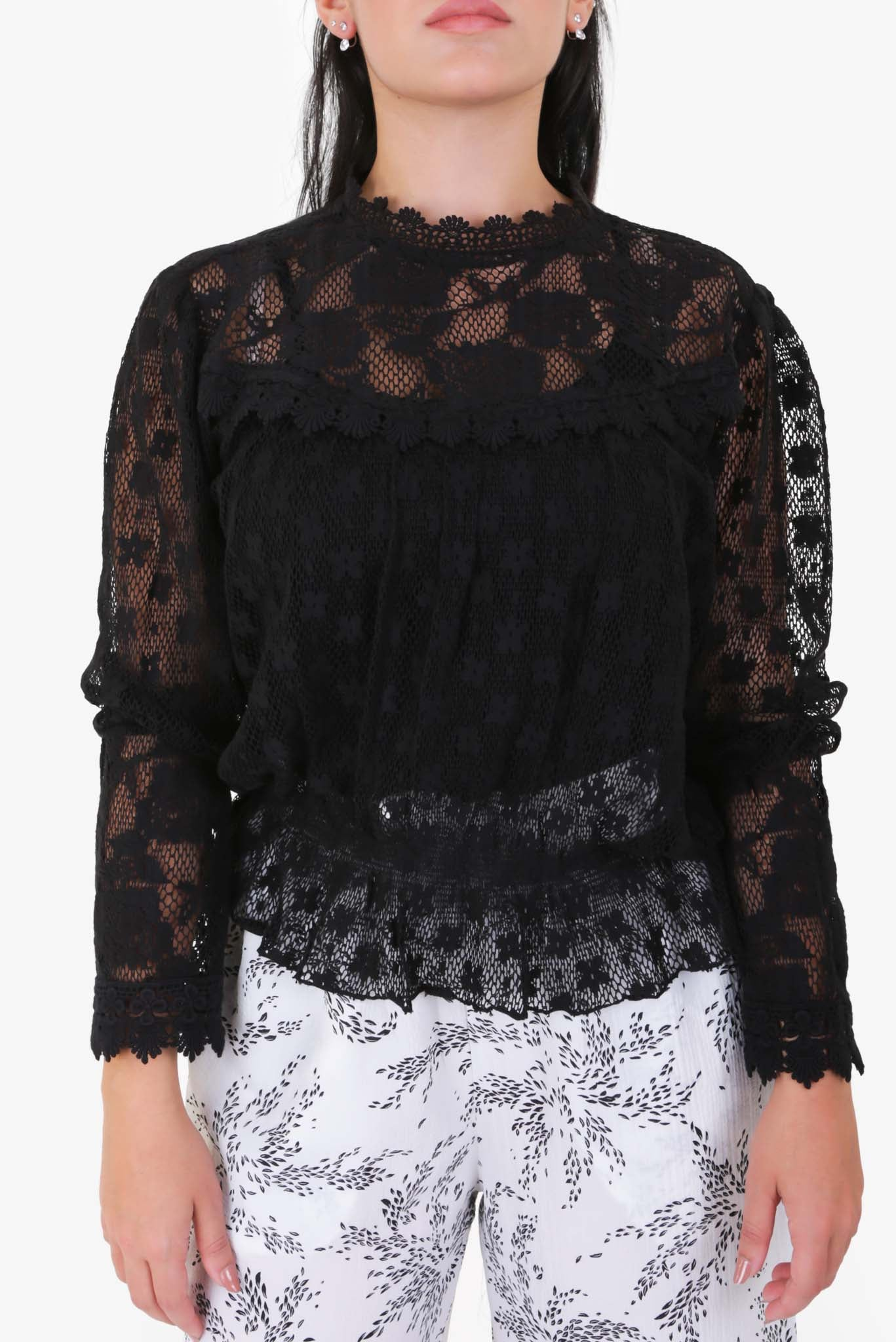 Lace Top - Black