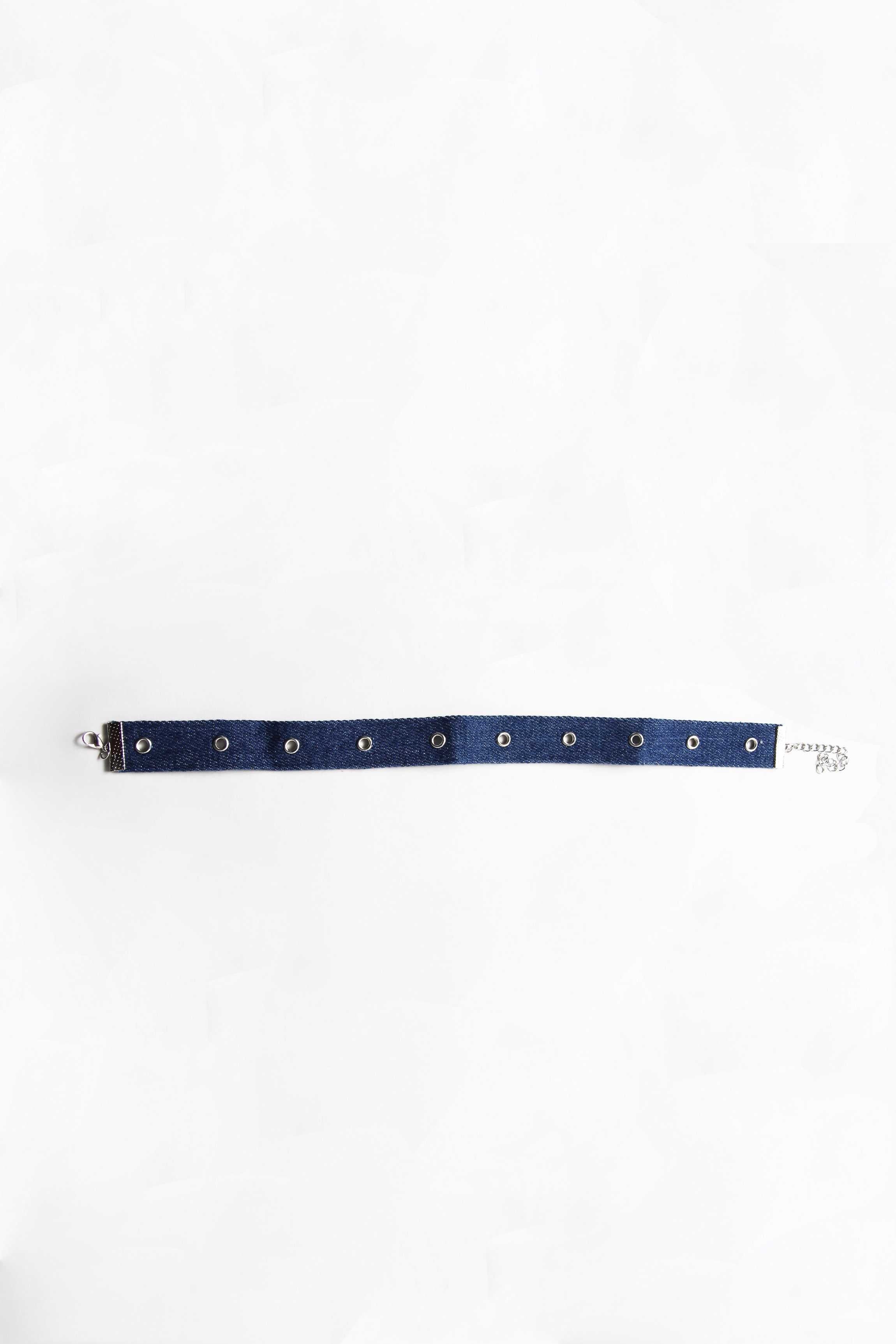 Denim Choker | Raw Orange