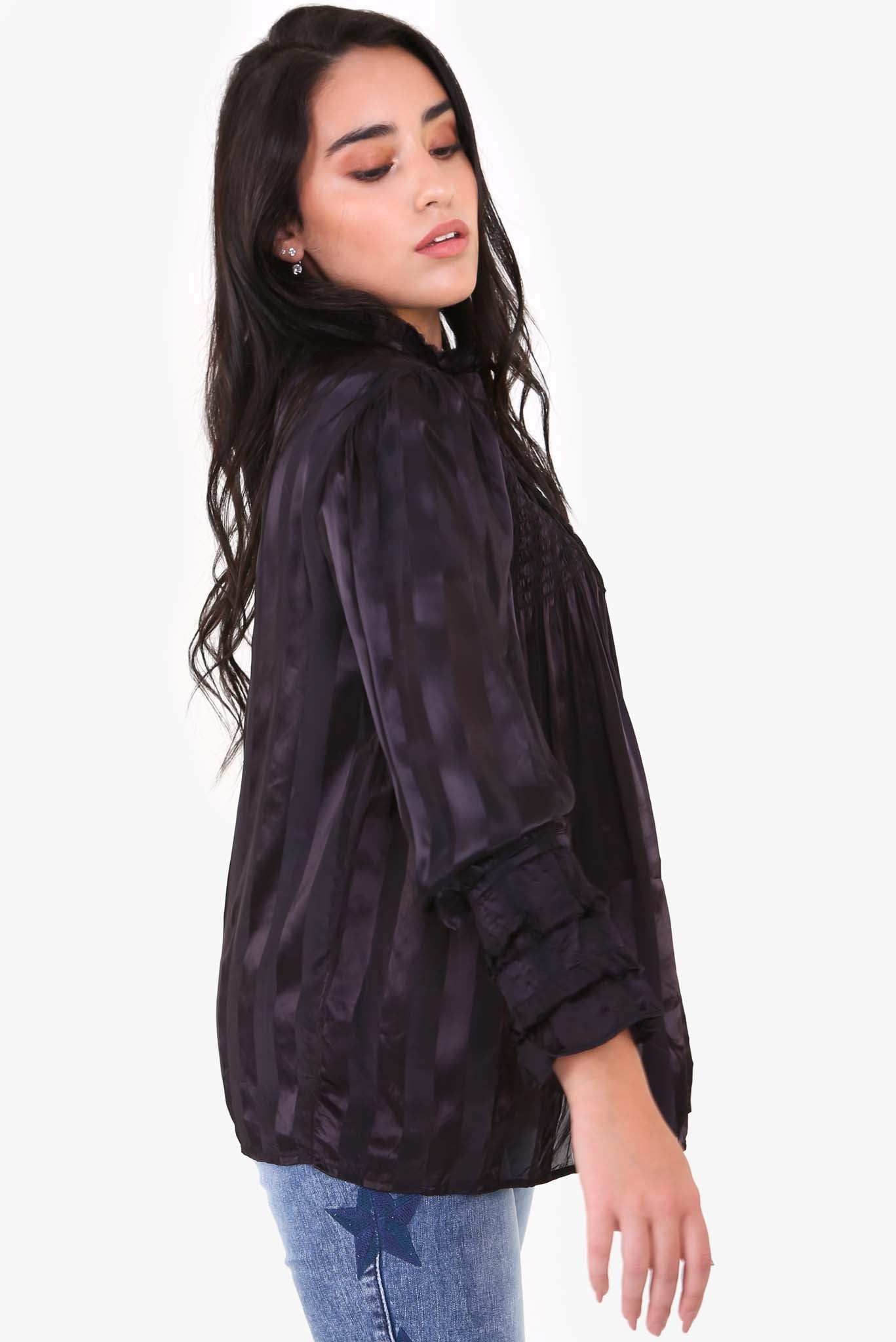 Pleated Top - Black